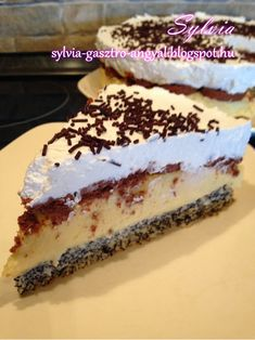 Sylvia Gasztro Angyal: Erzsébet királyné tortája Tiramisu, Baking Recipes, Ethnic Recipes, Food, Poppy, Cakes, Pump, Cooking Recipes, Cake Makers