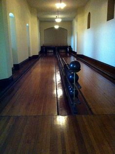 The bowling ally inside the mansion