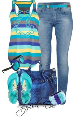 Summer flow turquoise outfits, summer wear, spring summer fashion, spring o Komplette Outfits, Spring Outfits, Casual Outfits, Fashion Outfits, Fashion Trends, Simple Outfits, Jean Outfits, Fashion Ideas, Fashion Moda