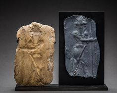 Old Babylonian Clay Mould with Standing Bull Man - Origin: Mesopotamia Circa: 2000 BC to 1700 BC Dimensions: high Collection: Near Eastern Art Medium: baked clay Location: Great Britain Ancient Discoveries, Terra Cotta, Ancient Greece, Medium Art, Seals, Great Britain, Lion Sculpture, Clay, Statue