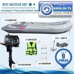 Evostar 3.90 Ahşap Tabanlı Şişme Bot & Parsun 9.9 HP Kısa Şaft Motor, Fiyatı 6.999,00 TL - Evostar Şişme Bot-Motor Setleri