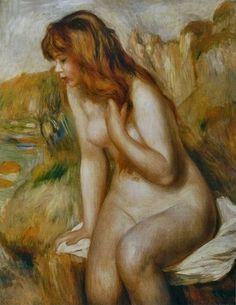 Auguste Renoir - Baigneuse assise au rocher                                                                                                                                                                                 Plus