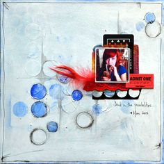 punchinella mixed media scrapbooking