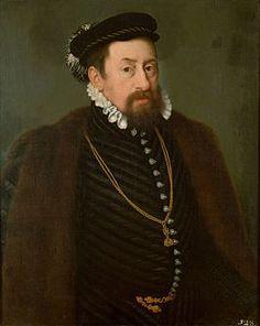 Portrait de Maximilien II, empereur des Romains etarchiduc d'Autriche, roi de Bohême, de Hongrieet deCroatie, vers 1566 Nicolas Neufchâtel
