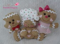 GALLETAS Gingerbread Man Crafts, Christmas Gingerbread, Primitive Christmas, Handmade Christmas, Christmas Crafts, Felt Christmas Ornaments, Christmas Decorations To Make, Holiday Crafts, Diy Projects Handmade