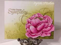Sympathy Flowers by JustCallMeNana - Cards and Paper Crafts at Splitcoaststampers Sympathy Verses, Sympathy Cards, Penny Black, Impression Obsession Cards, Tombow Markers, Deepest Sympathy, Sympathy Flowers, Forest Friends, Distress Ink
