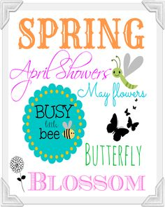 Beautiful Free Spring Free Large Printable -Keep in mind, if you print these & frame. Or you can also mod podge to a wooden plaque that you can pick up at the craft store ! by rouse schwedhelm Depew's This last one is larger and it can be for an frame Spring Words, Subway Art, Spring Has Sprung, Tree Crafts, Brighten Your Day, Spring Crafts, Craft Activities, Word Art, Spring Time