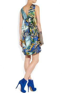 Stella McCartney barton printed silk-satin dress 4