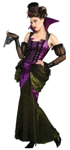 halloween aristocrat women dress steampunk | This fabulous dress can be worn as a Steampunk Victorian costume, or a ...