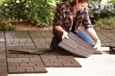 Recover Your Patio with Envirotile Tiles made entirely of recycled materials - $7.98+