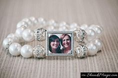 Gift Her A Memorable One That Stays Forever.  How about gifting a jewelry like bracelet that has a picture of bride and the groom together? Just like the bracelet in this image that symbolizes togetherness of two people.