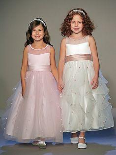 A-Line Ankel-length Satin Tulle Flower Girls Dresses Girls Dresses Online, Girls Pageant Dresses, Dresses Uk, Prom Dresses, Frock Design, Baby Girl Party Dresses, Little Girl Dresses, Flower Girl Gown, Flower Girls