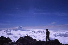 Mt Kilimanjaro Summit - so high, the clouds are below you...wow | Highest mountain in Africa