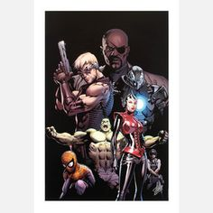 Ultimate Avengers 3 18x27 now featured on Fab.