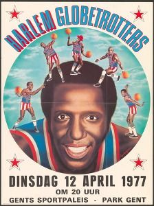 Harlem globetrotters : dinsdag 12 april 1977 om 20 uur Gents sportpaleis - park Gent  (Sports & recreation posters Belgium Ghent) #Booktower