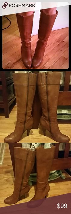 Aldo Brown Boots! Great condition! Wore a few times for work! Just sits in closet. Perfect for fall !!!   Great heel- not too high not too low Comfortable! Great for work or play! Very Fashionable! Zippers on inside leg! Aldo Shoes Heeled Boots