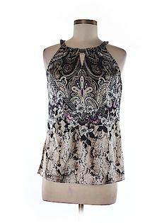 White House Black Market Women Sleeveless Silk Top Size 6