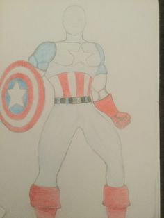 Captain America without a face(probs never gonna get one,I lazy)