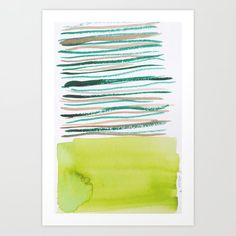 Lines & Color Block Series October 2018 Watercolor Art Paintings, Modern Art Paintings, Watercolor Artists, Watercolor Print, Watercolors, Pastel Watercolor, Painting Art, Art Prints For Home, Modern Art Prints