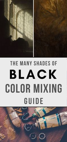 Learn how to make black paint and the best recipes for mixing it! You do not need to buy black, simply mix your own! Learn how to mix colors. Color Mixing Guide, Mixing Paint Colors, What Colors Make Black, Color Black, All The Colors, Acrylic Painting Tips, Black Acrylic Paint, Painting Lessons, Art Lessons
