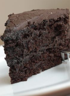 """THIS is LITERALLY the BEST chocolate cake in the entire world. But instead of the """"especially dark frosting"""" recipe, using my buttercream icing recipe. It's literally the best thing I have ever eaten."""