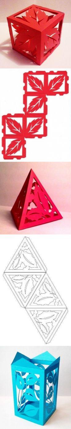 Plantilla para crear piezas inusuales de papel