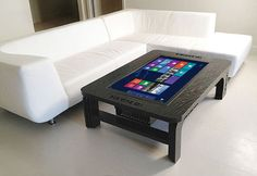 The Ultra High-Tech Coffee Table Incorporating A Windows 8 Computer - Pursuitist