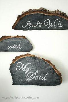 DIY Wood Chalkboards  This is a FABULOUS idea for a fallen tree or a recycled tree removal project!