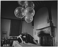 "Saatchi Online Artist: Vikram Kushwah; Black & White, 2010, Photography ""Ofelea and the Flying Balloons"""