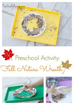 Fall Nature Wreath Preschool Activity » Practically Hippie