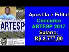Apostila Completa e Edital Concurso ARTESP 2017 Cargo: Agente de Fiscalização | Apostilas Para Concursos