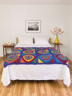 Crochet Patterns - Mandala Granny Afghan