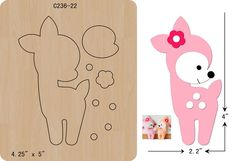 New Deer Wooden die fit Big Shot Scrapbooking - New Deer Wooden die fit Big Shot Scrapbooking The thickness is and is compatible with most leading machines. Can't find what you need? Felt Crafts Diy, Felt Diy, Crafts For Kids, Paper Crafts, Felt Animal Patterns, Stuffed Animal Patterns, Felt Templates, Felt Decorations, Felt Christmas Ornaments