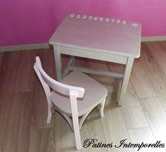 Bureau et chaise pour petit garon VIVE LA Rentre