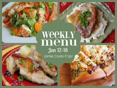 Menu Plan from Jamie Cooks It Up! #whatsfordinner #jamiecooksitup #januaryrecipes