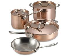 Copper pots and pans. Way expensive, but I'd love to own a set.. Maybe this can be what I ask for this Christmas..