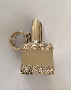 fd2f7aaf015 Catawiki online auction house  Solid chrome key ring studded with  rhinestones in the shape of