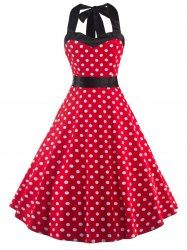 Sweet Vintage Open Back Women's Polka Dot Dress For Fashion Lovers   Join Sammydress: Get YOUR $50 NOW!