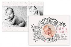 Birth Announcement Template by Jamie Schultz Designs