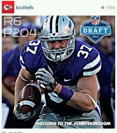 With the 204th pick in the 2013 draft, the Kansas City Chiefs select fullback Braden Wilson, Kansas State University! EMAW!