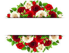 Beautiful roses art background vector 03