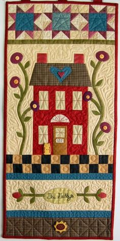 Welcome Home wall hanging quilt pattern by Buttons and Bees