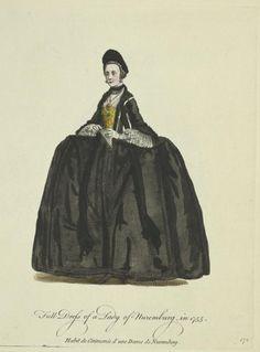 Full dress of a lady of Nuremburg in 1755