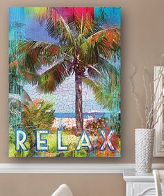 Another great find on #zulily! 'Relax' Palm Tees Wall Art #zulilyfinds