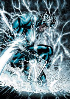 Blue Lantern, Green Lantern Corps, Green Lanterns, Flash Comics, Dc Comics Art, Flash Wallpaper, Wally West, Kid Flash, Geek Art