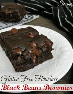 These gluten free black beans brownies are absolutely delicious! They're rich, fudgy and ridiculously easy to make!
