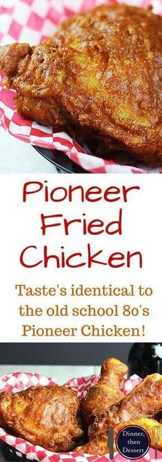 Shatteringly crisp, flavorful Pioneer Fried Chicken that tastes so nostalgic you will feel like you've gone back in time! Easy to make, only takes five minutes to make the wet batter and straight into the fryer! Serve with corn on the cob and your favorit Turkey Dishes, Turkey Recipes, Meat Recipes, Dinner Recipes, Cooking Recipes, Game Recipes, Copycat Recipes, Fried Chicken Dinner, Coleslaw