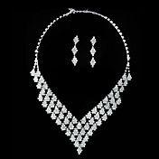 Gorgeous Rhinestone Shining Ladies Necklace a... – USD $ 9.99