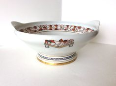 Limoges stunning Art Deco fruit bowl or by SouthofFranceFinds