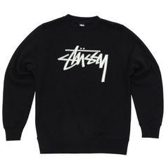 0e78a358b12 Stussy Stock Felt Crew (Black) Hip Hop Outfits